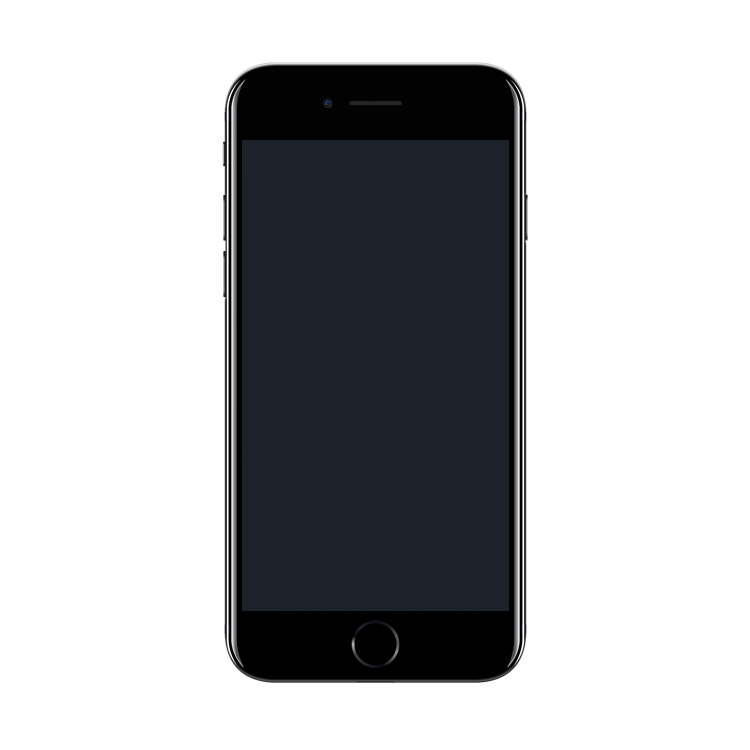 Download Iphone 7 Mockup Iphone 7 Jet Black Iphone Android Mockup
