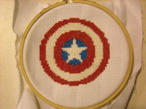 Captain America X Stitch by geek-stitch
