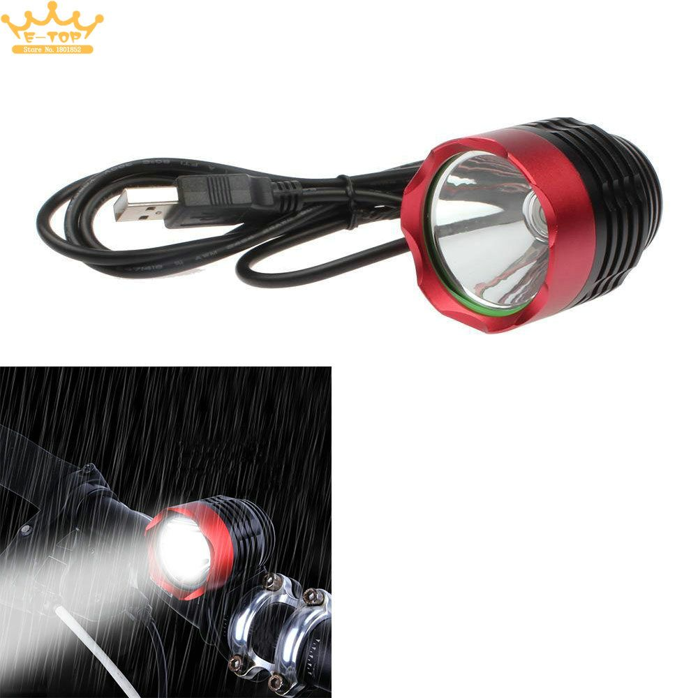 T6 LED Cycling Bike Bicycle Head Light Flashlight With 3 Modes Torch USB