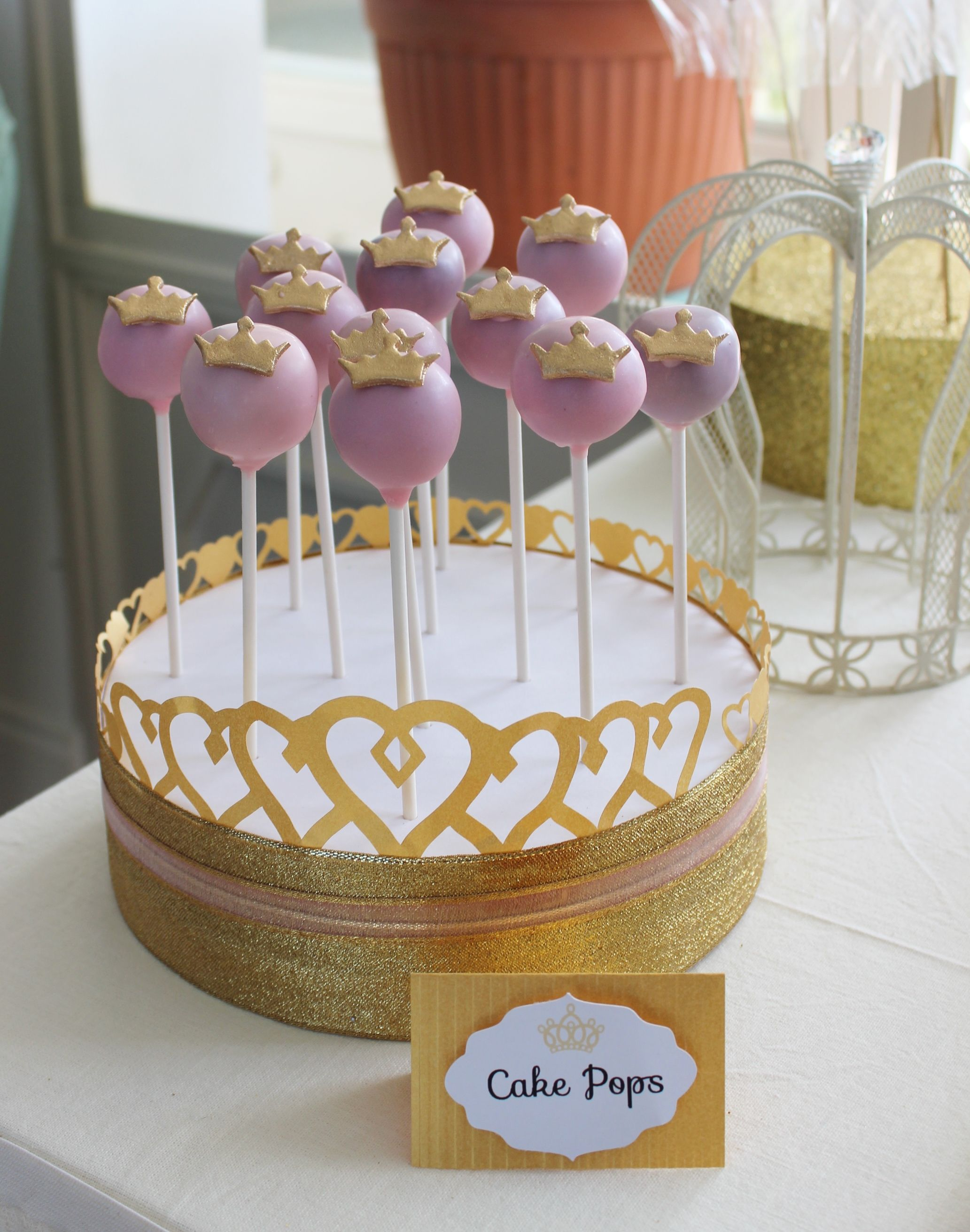cake pop ideas wedding shower%0A Pink and Gold Princess Cake Pops by Violeta Glace