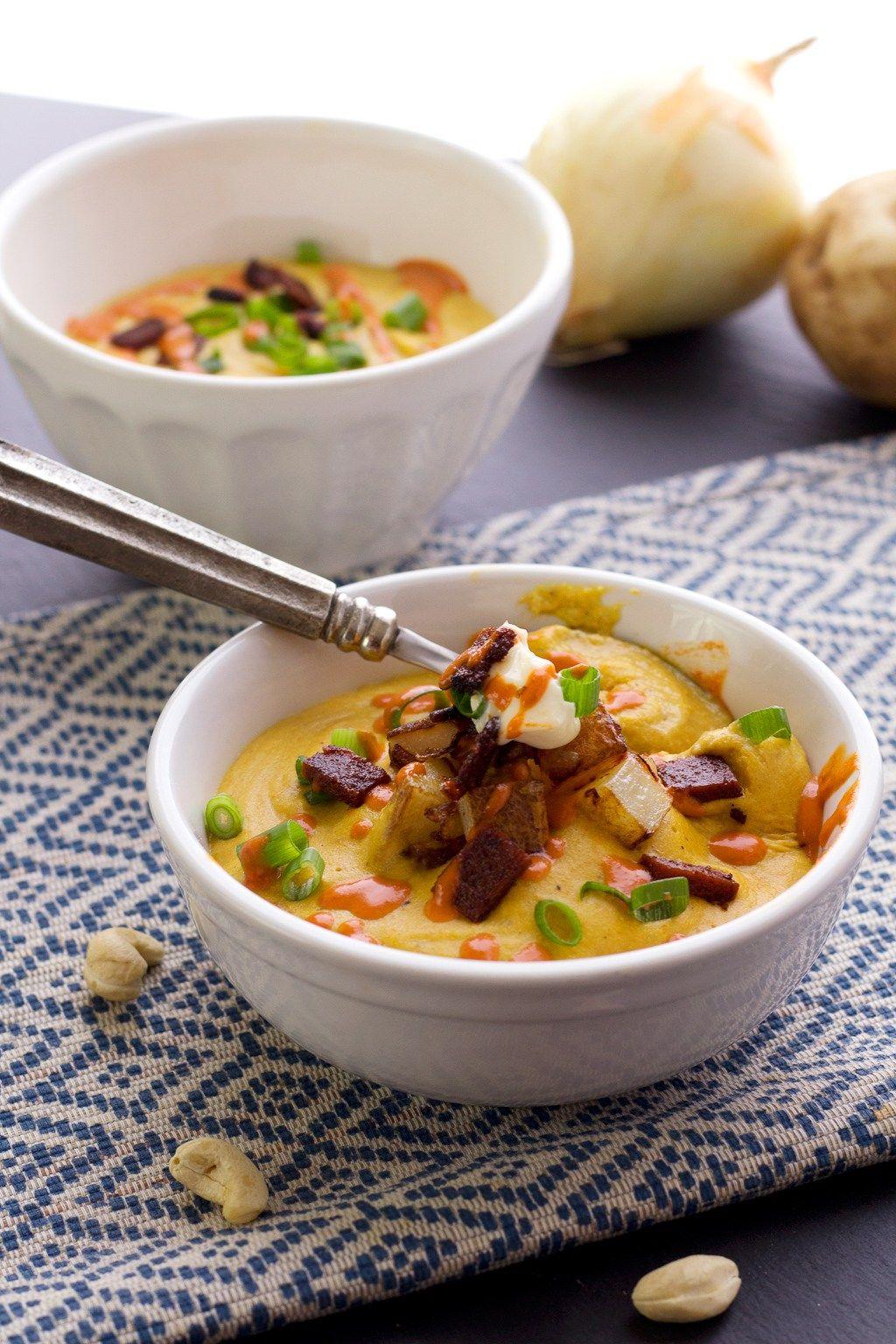 Easy vegan creamy potato soup recipe soup recipes