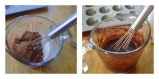 Adding the cocoa powder