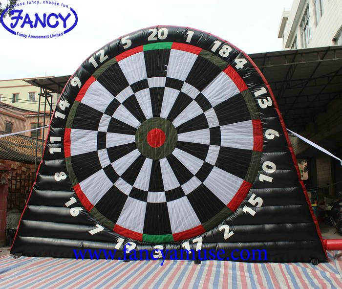 Fancy Awesome Quality Pvc Tarpaulin Inflatable Soccer Foot Dart