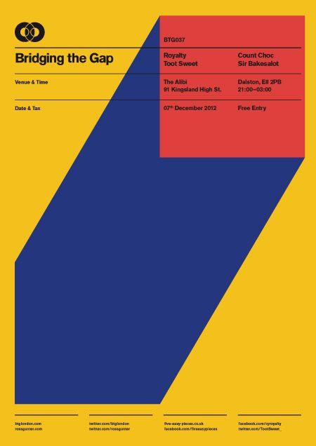 BTG Poster Series on Behance in Geometric
