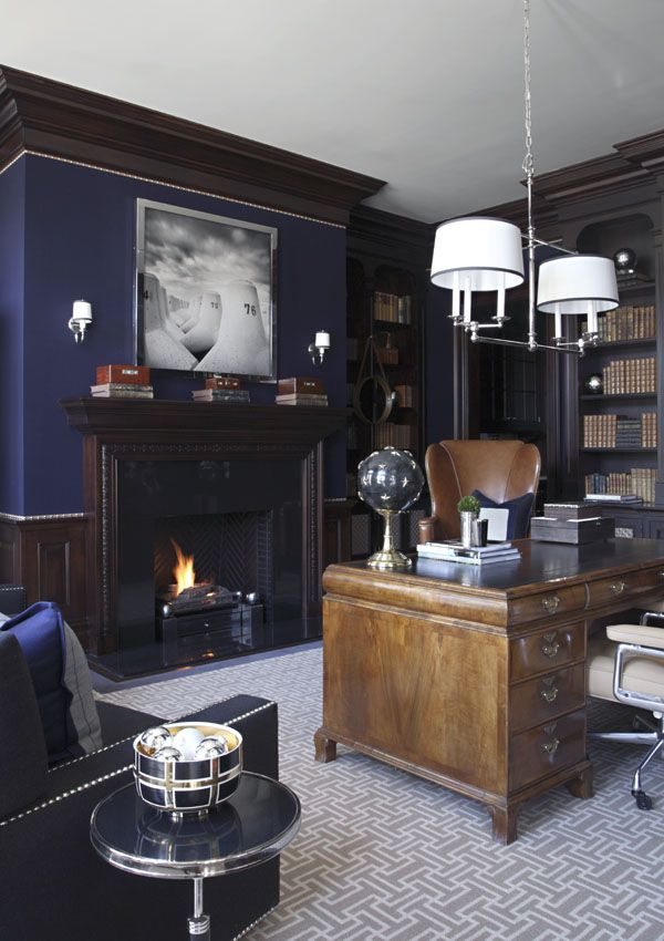 Beautiful Greenwich, CT Home Office By S.B. Long Interiors