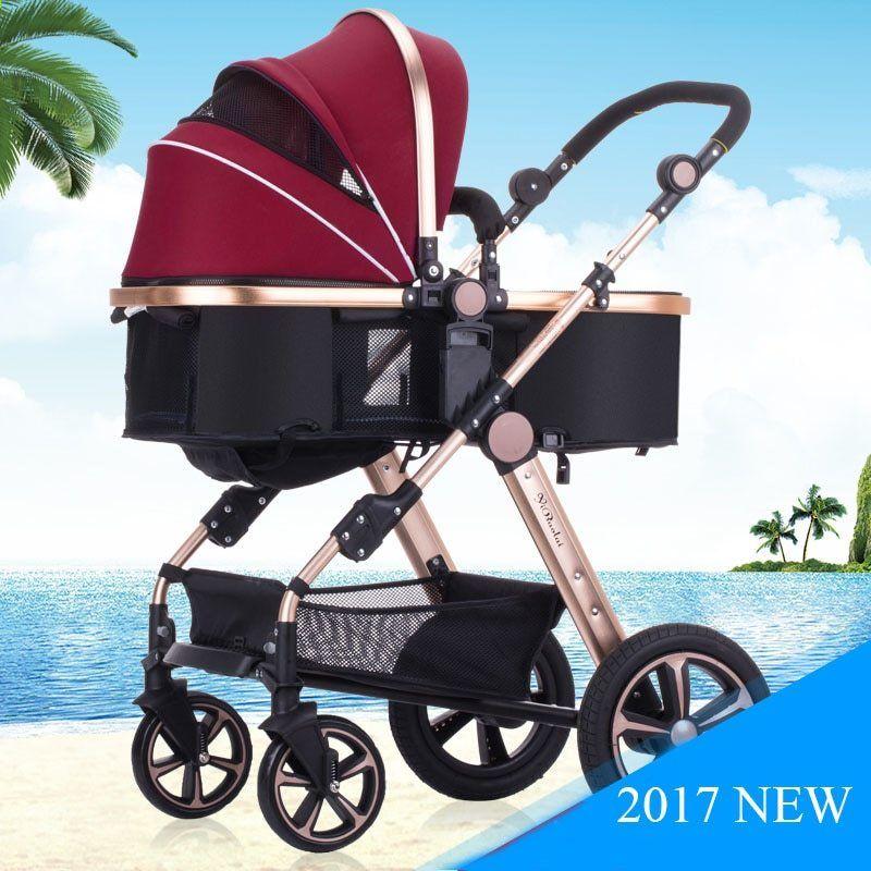 9 Warna Paduan aluminium Ringan Mewah Baby Stroller