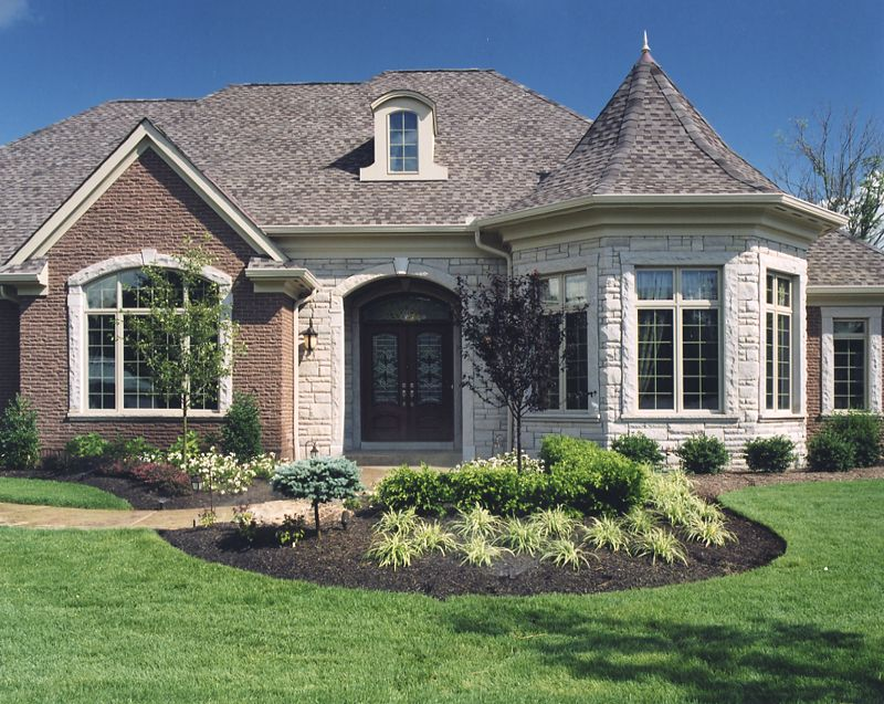 charming stone and brick house plans #2: exterior photos of house plans drawn by studer residential designs stone  and brick house exteriors #