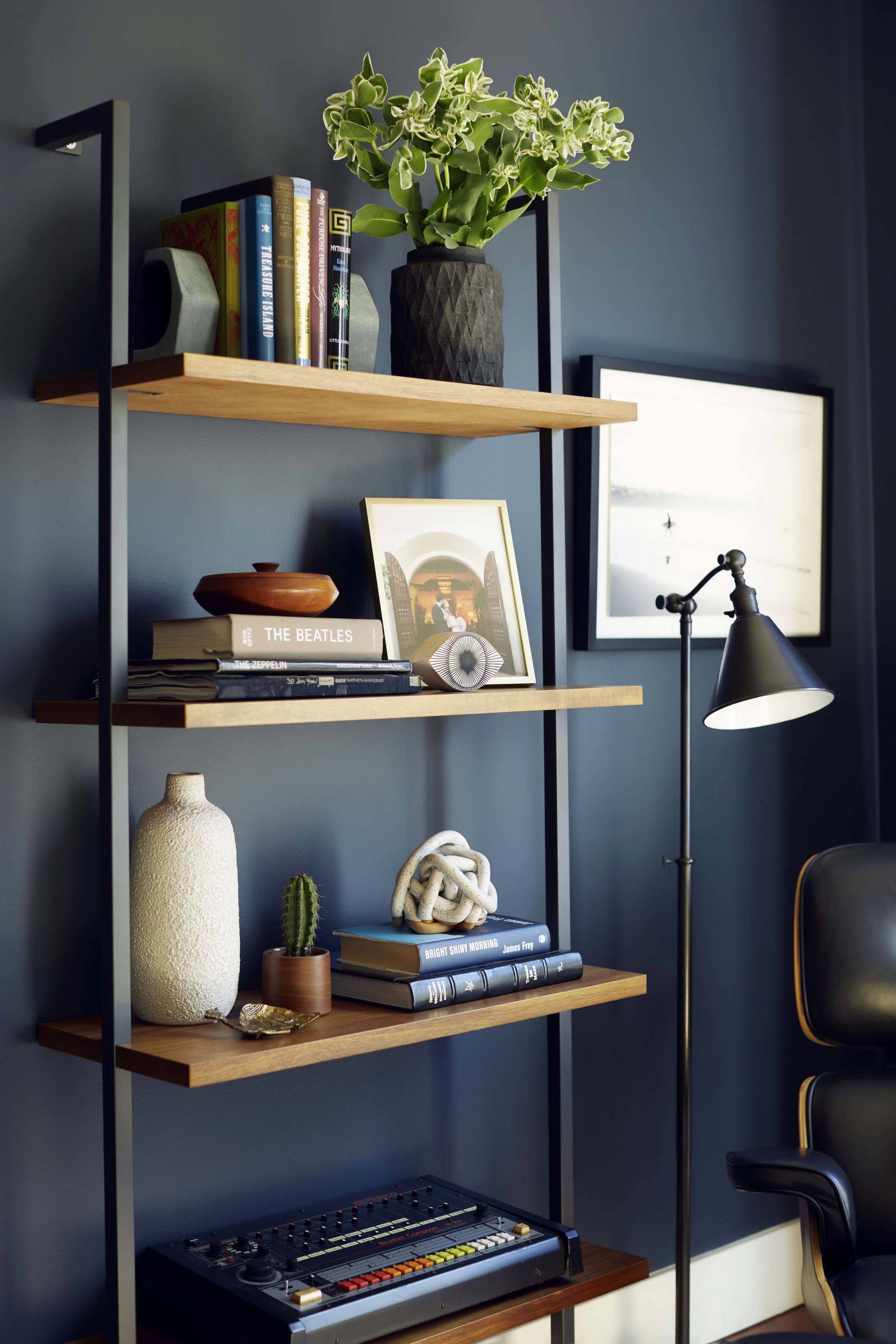 Simple And Modern Shelving Dark Wood Furniture Living Room, Modern Office  Furniture, Bookshelf Living