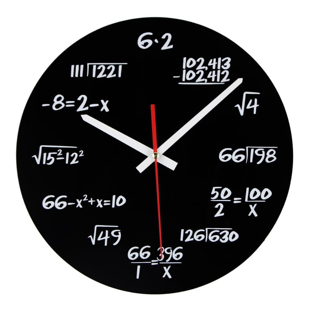 Sale Acrylic Wall Clock Maths Equation Modern Design Portugal Euro ...