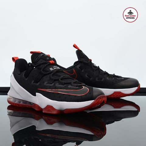 the latest 261b8 70d18 The Black/Red #Nike LeBron 13 Low is available in stores ...