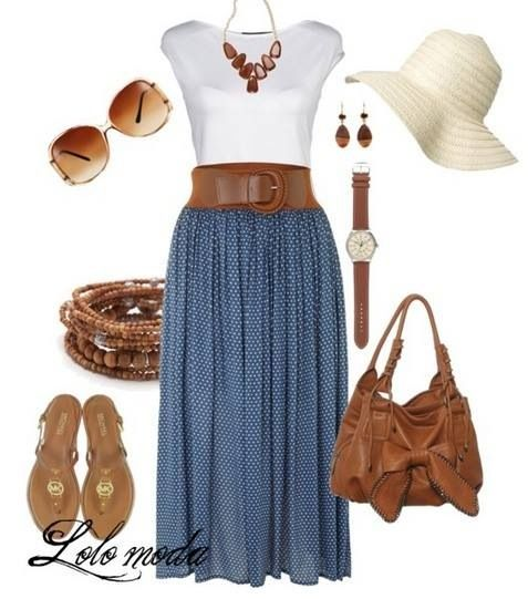 Maxi skirt to spring