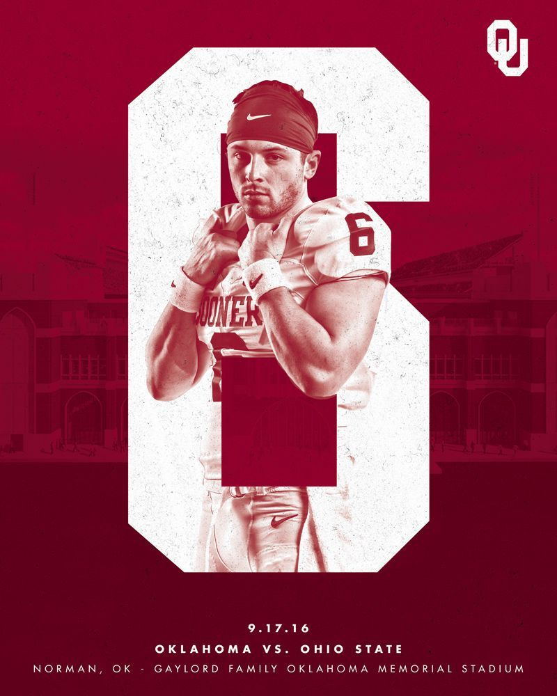 "7125042c69bc Check out this  Behance project  ""2016 Oklahoma Football"" https"