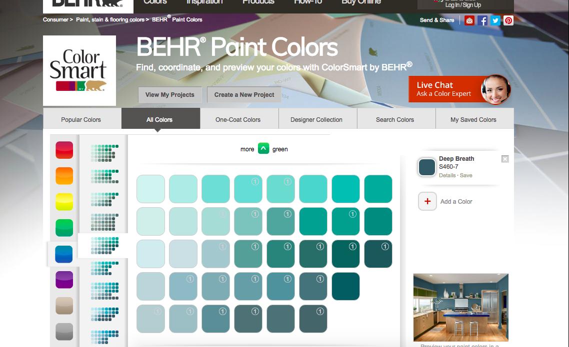 deep breath paint color visualizer paint color chart on behr paint visualizer id=57454