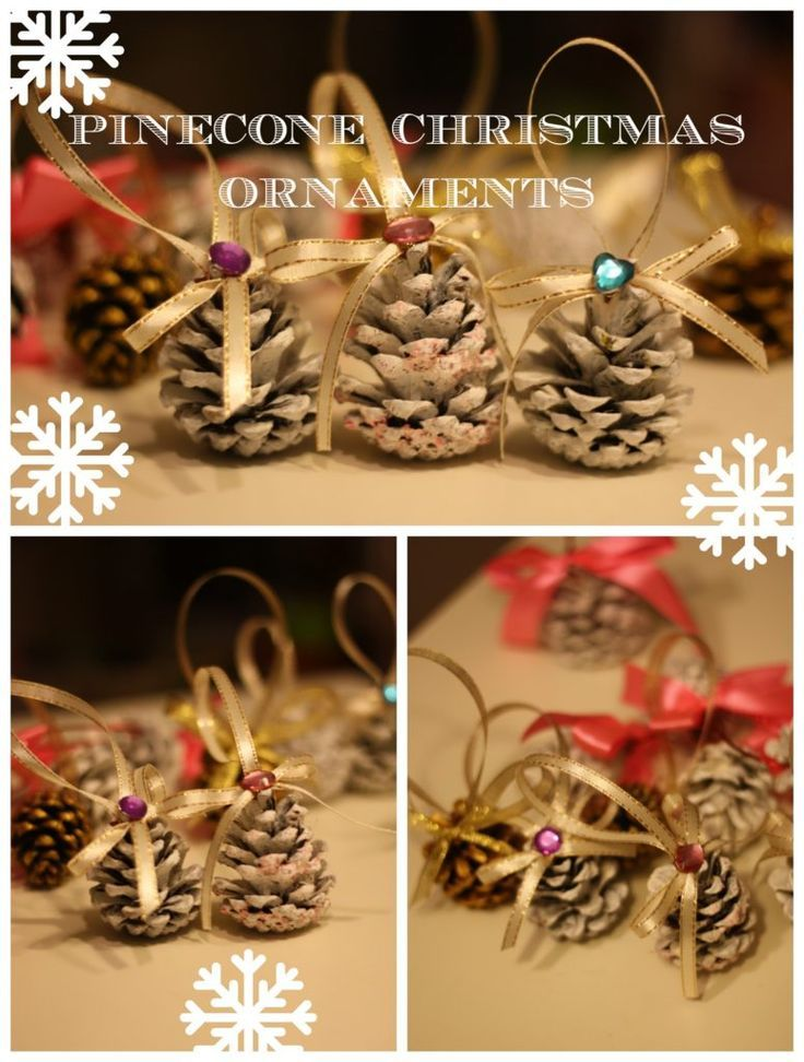Pinecone Christmas Ornaments Pinecone, Christmas ornament and Ornament