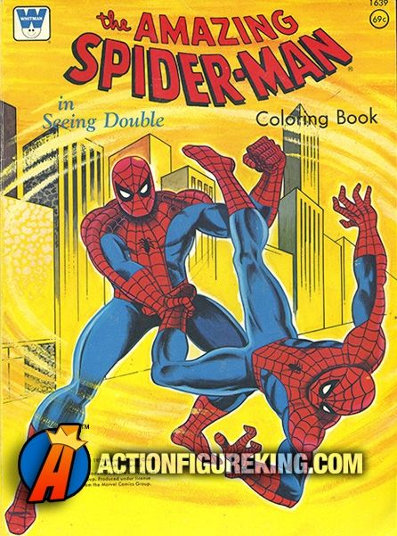 Vintage 102-page 1976 Spider-Man Seeing Double Coloring Book ...