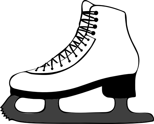 ice skate side view clip art google search inspiration rh pinterest com ice skating clipart free ice skater clip art free