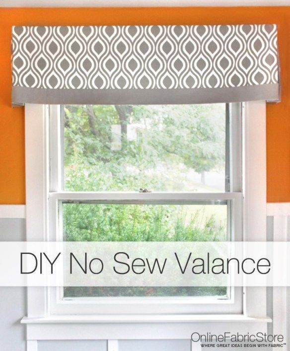 How To Make a No Sew Valance | Rezept | Decorating | Pinterest