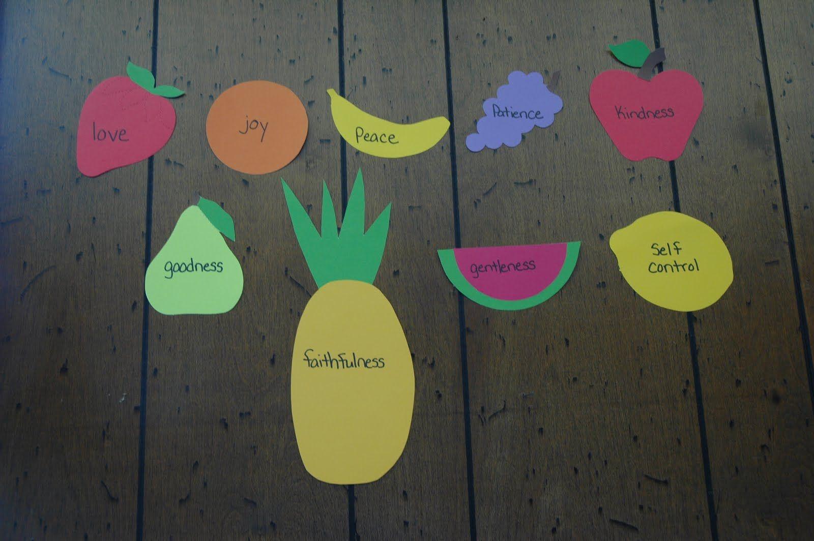 Fruit Of The Spirit Printables For Kids