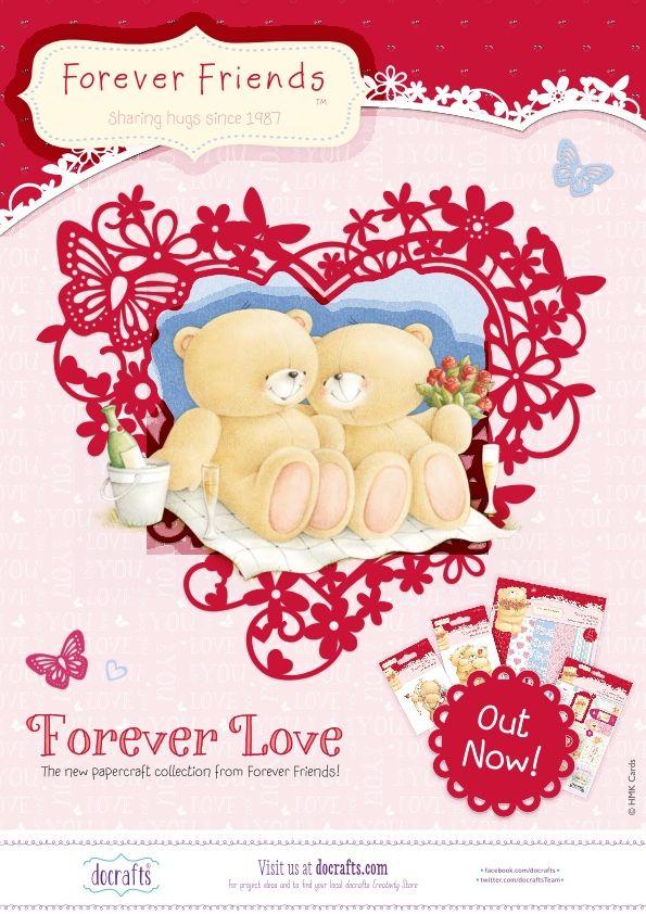 Die Serie (nicht nur) zum Valentinstag: Forever Friends - Forever Love -- mit tollen Papieren, Stanzbogen, Toppers, Stempeln und vielem mehr. Bei uns erhältlich: www.3dkarten.eu
