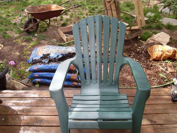 Breathe New Life Renew Into An Oxidized Pvc Deck Chair
