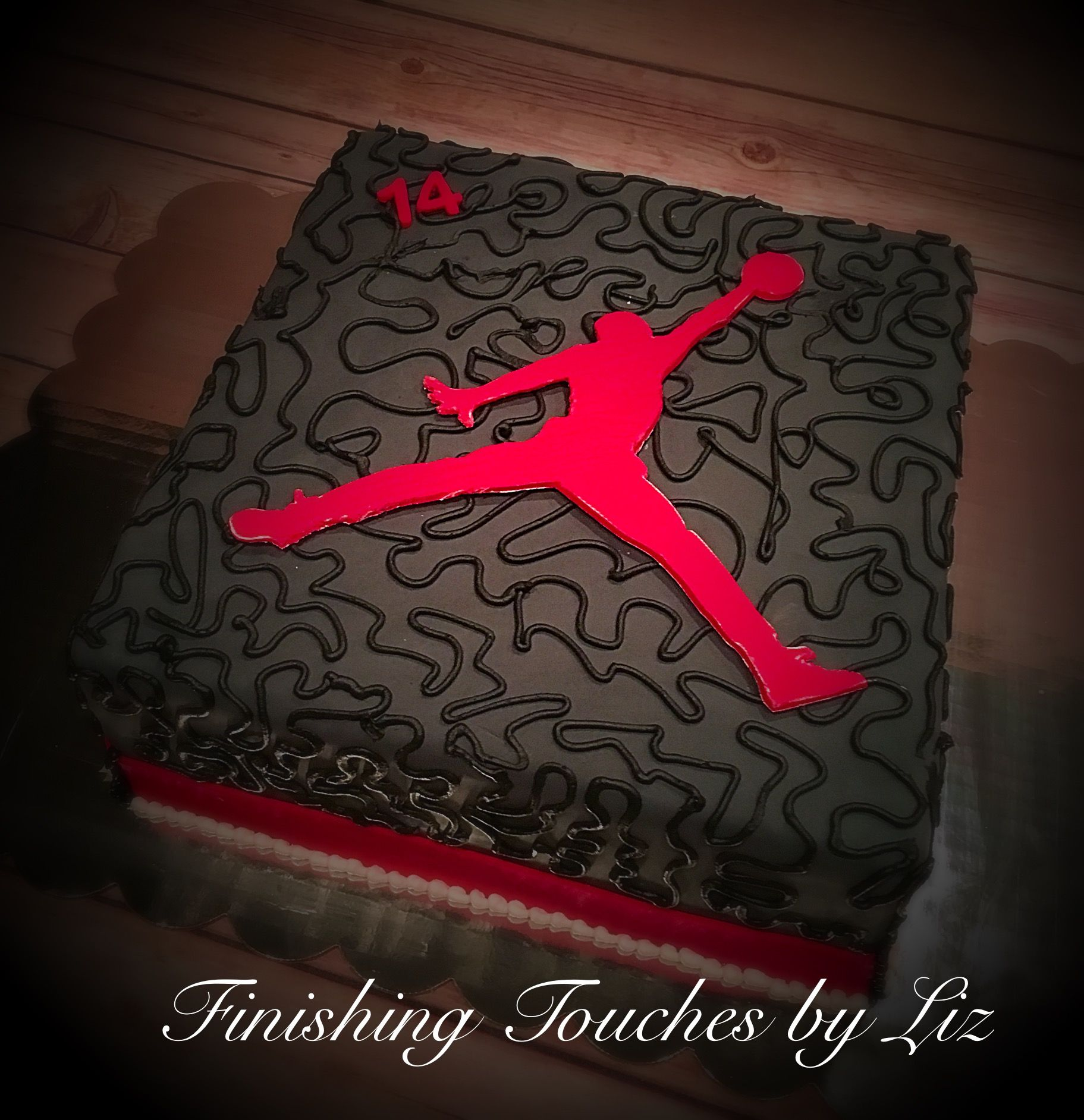 Air Jordan birthday cake By wwwfacebookcomfinishingtouchesbyliz
