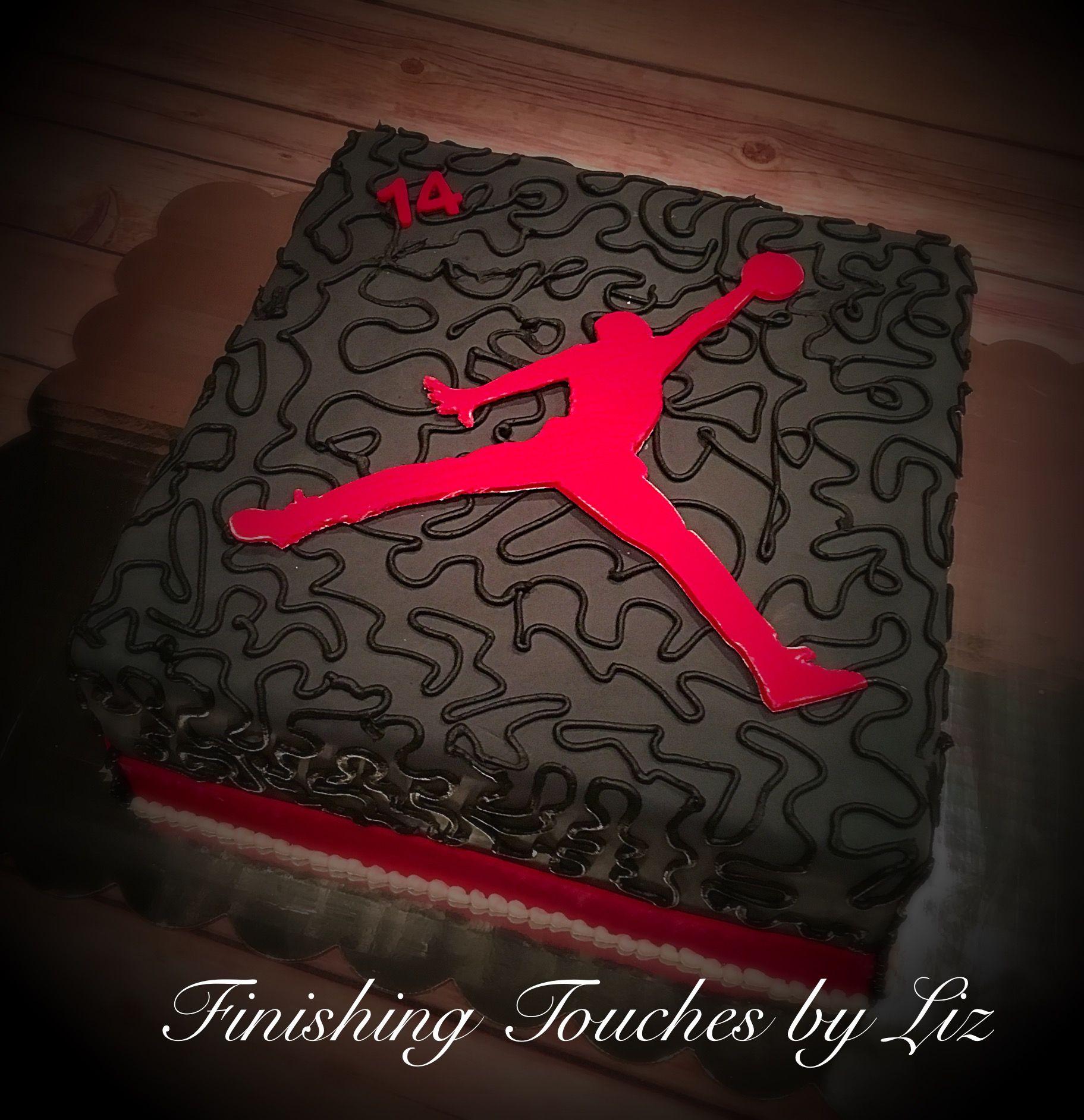 Air Jordan birthday cake By wwwfacebookcomfinishingtouchesbyliz