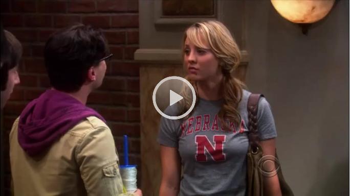 Penny From Tbbt Wearing A Husker Shirt Oh Yah Life Is Good Sports Jersey Nebraska
