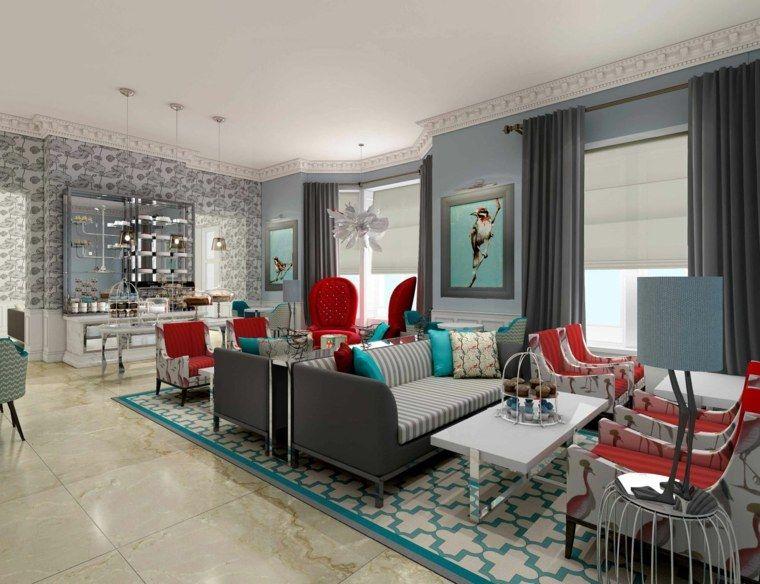 salon moderne gris harmonie esthtique - Salon Bleu Et Gris