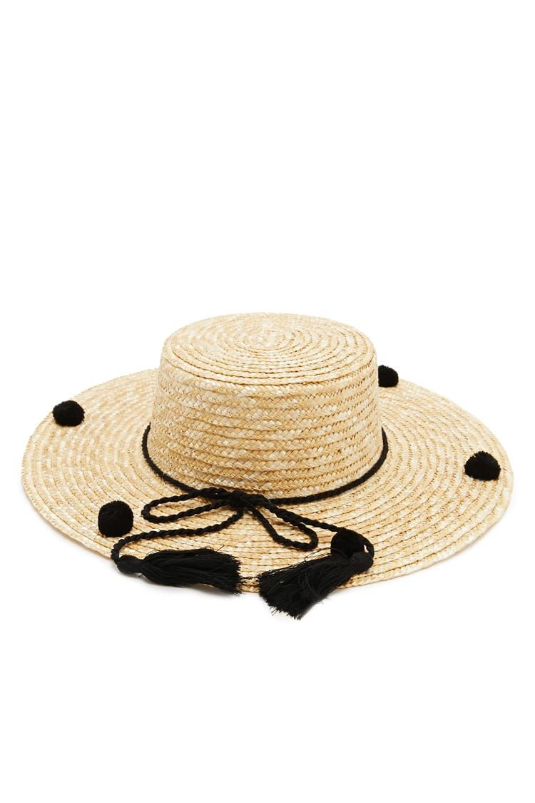 07ddb341 Pom Pom Straw Boater Hat - Accessories for Women | Sunglasses, Backpacks &  Wallets | Forever 21 - Women's Hats | Fedoras, Snapbacks, & Beanies |  Forever 21 ...