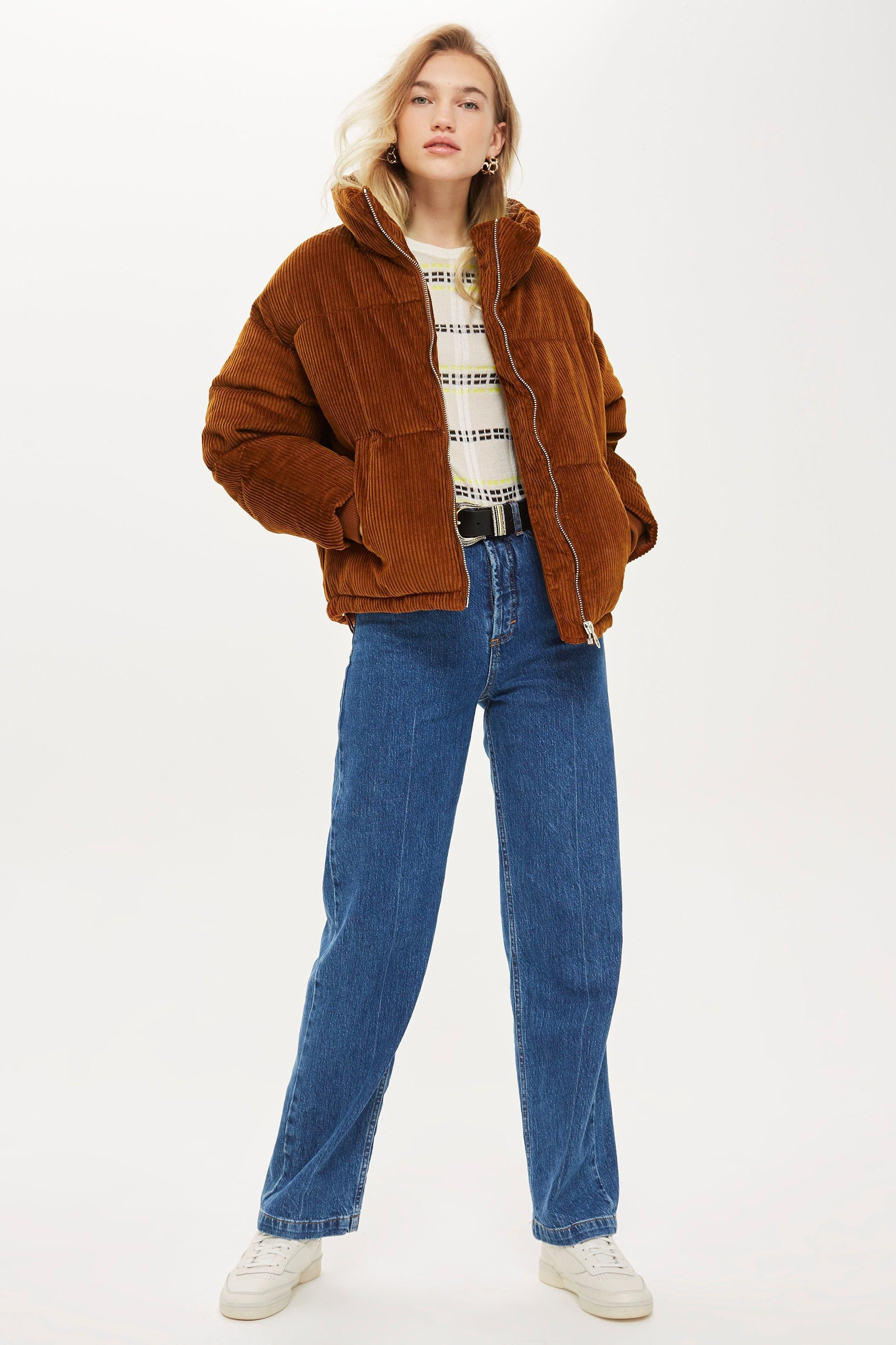 Chunky Corduroy Puffer Jacket (With images) | Puffer ...