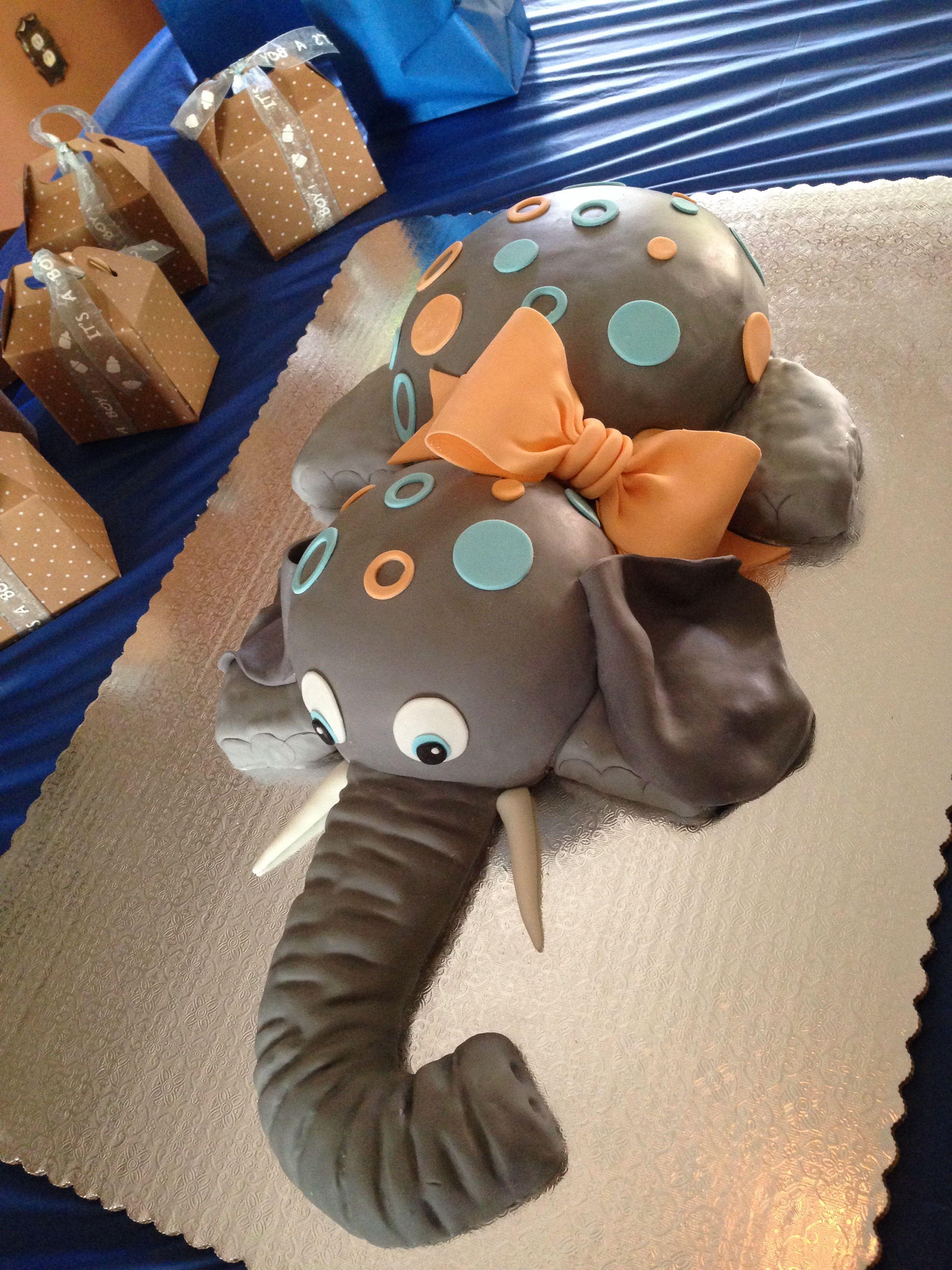 Elephant baby shower cake My cakes Pinterest