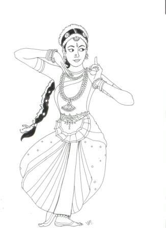 wanna draw this | Indian illustration and dance
