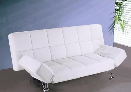 J U0026 M Furniture 1754422 PU Venus Sofa Bed White Vinyl | Decor | Pinterest |  White Vinyl, Modern Daybed And Extra Bed