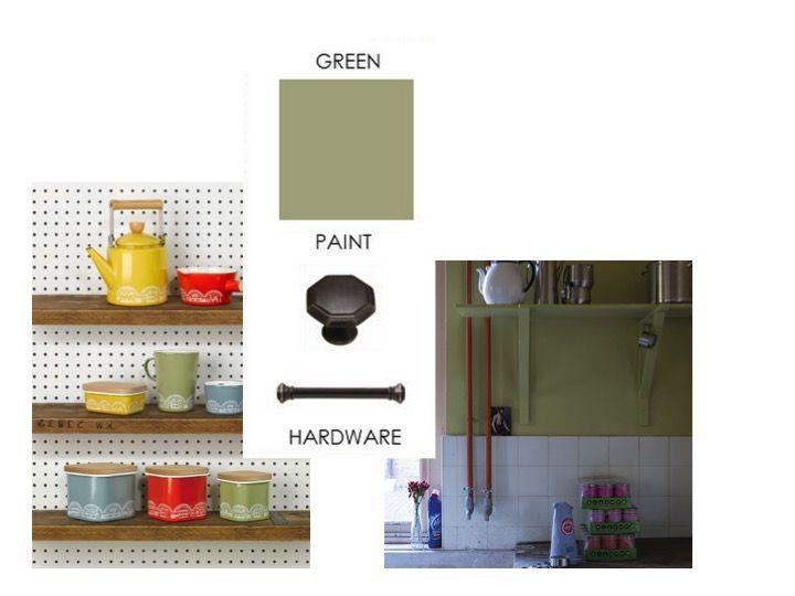 Kitchen colour update - 50's/60's ceramic green