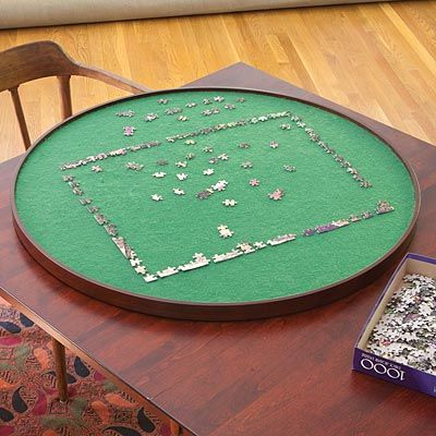 """34"""" Jigsaw Puzzle Spinner - I've got to get one of these! Such a simple but perfect idea!"""