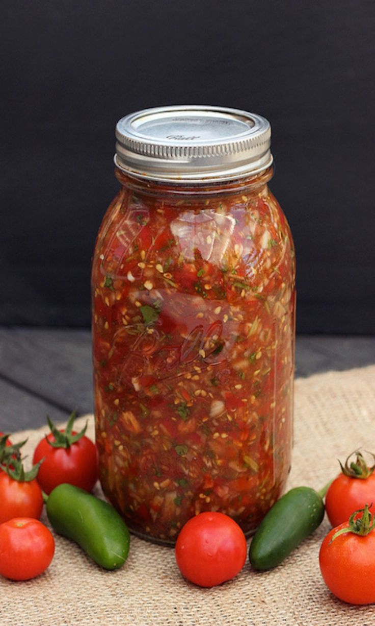 Homemade salsa.