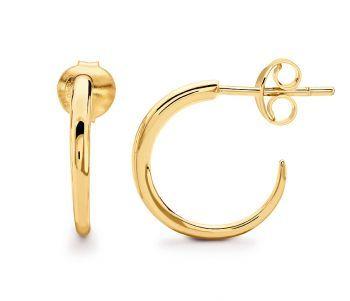 18ct Gold Vermeil Mini Horn Hoop Earrings