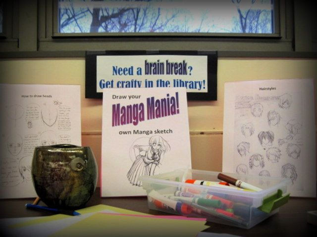 Kids can draw their own Manga. We recently consolidated all of our graphic novels to one section of the library-- the kids are crazy about it.