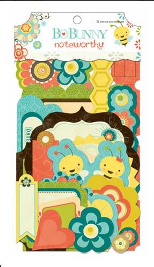 Bo Bunny Press - Hello Sunshine Collection - Note Worthy Journaling Cards at Scrapbook.com $3.99