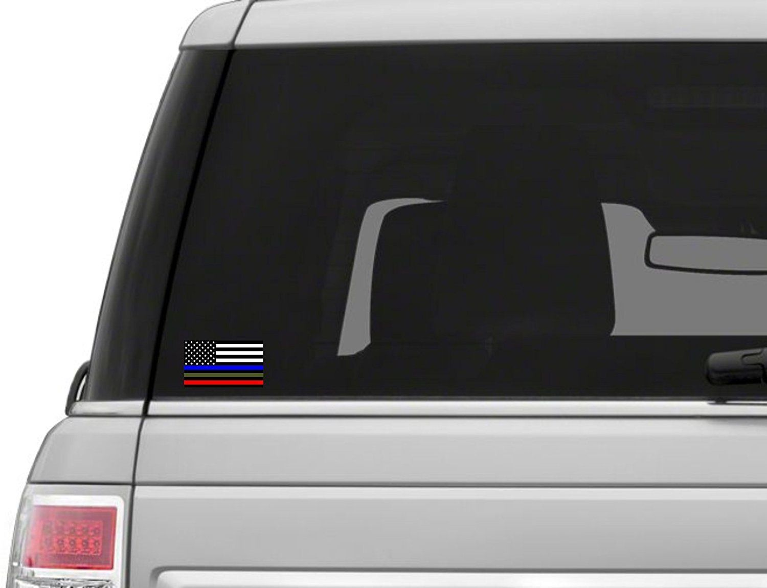 2 pack military sticker police decals american flag sticker blue green and red stripe