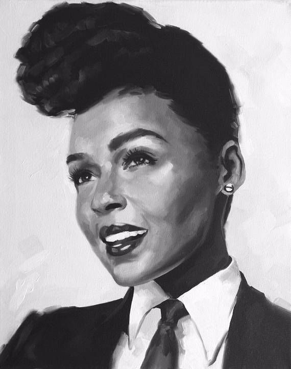 Janelle Monáe Fine Art Print Electric Lady  Funk  Soul
