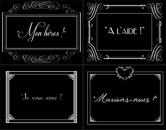 Silent Film Styled Title Cards