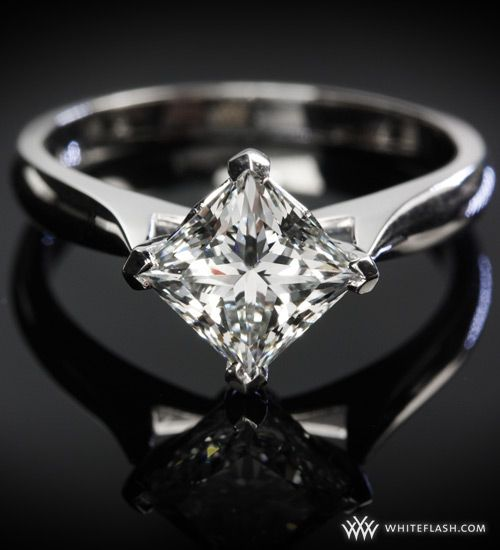 Unique Princess Cut Solitaire Engagement Ring I love how it s angled ins