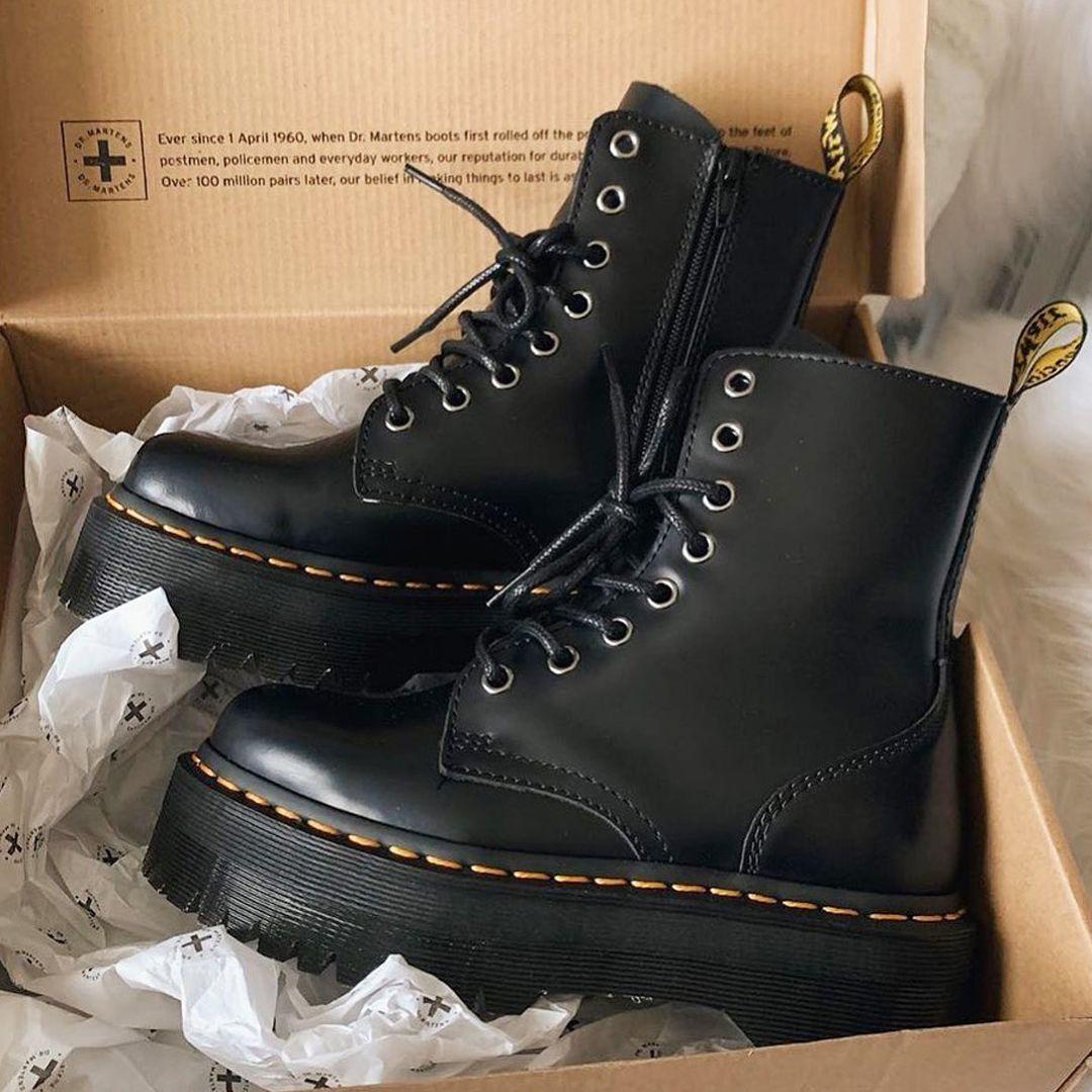 Umeki Bourgeon Controlar  Botas militares Dr Martens Jadon | Zapatos tenis para mujer, Zapatos de  charol mujer, Zapatos mujer de moda