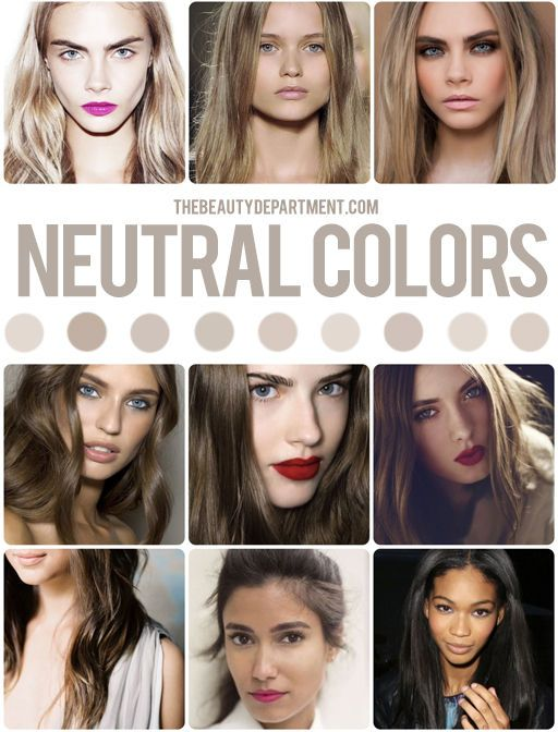 Hair Color Guide Neutral Hair Pinterest Hair Color Guide