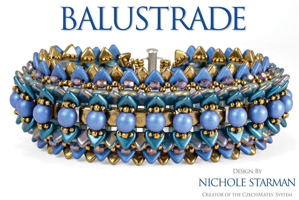 Balustrade Bracelet Pattern - Digital PDF Tutorial - Personal Use by NicholeStarman on Etsy https://www.etsy.com/listing/208055104/balustrade-bracelet-pattern-digital-pdf