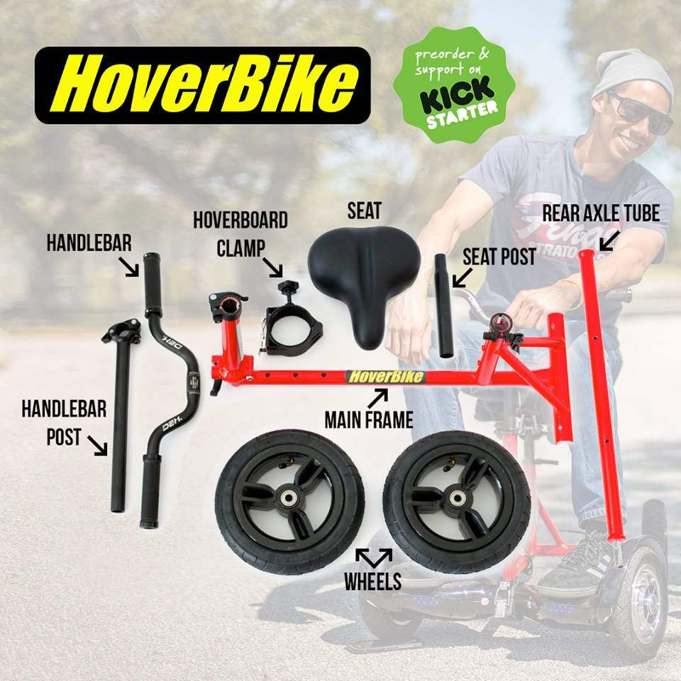 Balance Board Tricks Youtube: Patent Pending HoverBike Turns Any Hoverboard Into Mini