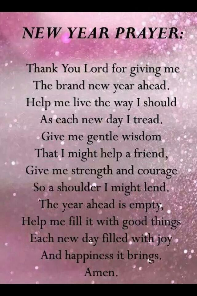 New Year Prayer   PRAYERS   Pinterest   Amen New Year Prayer