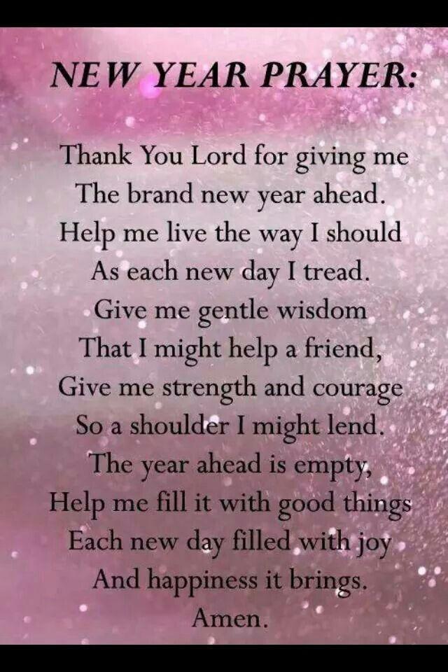 New Year Prayer | PRAYERS | Pinterest | Prayers, New years prayer ...