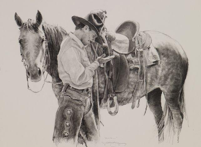 Годовщина свадьбы, картинки ковбоев карандашом